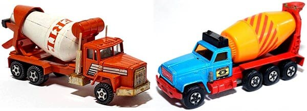 Matchbox GMC & Ertl IH PayStar Cement Trucks