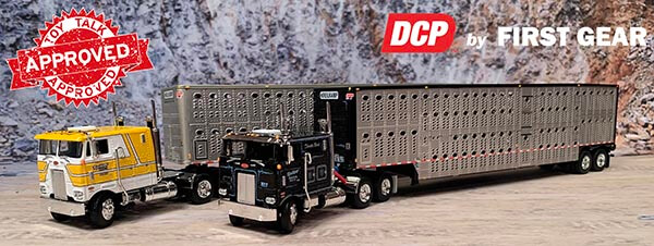 Pete 352s with Livestock Trailers for Krielkamp