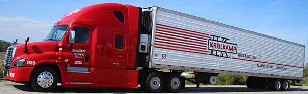 Freightliner Cascadia with Reefer Kreilkamp Trucking