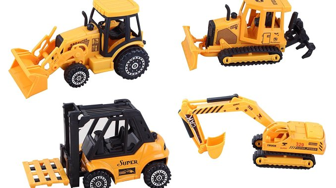 Diecast construction vehicle