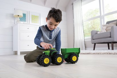 monster tread with wagon john deere toy tractor