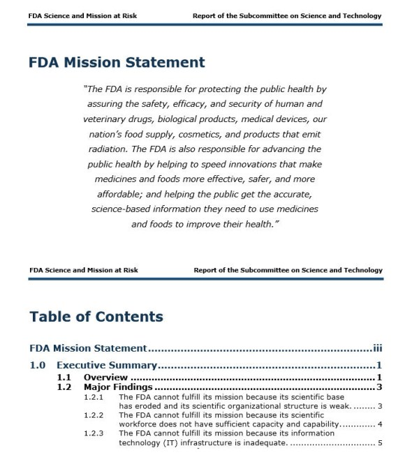 FDA Mission Statement copy