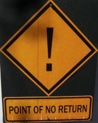 sign point of no return