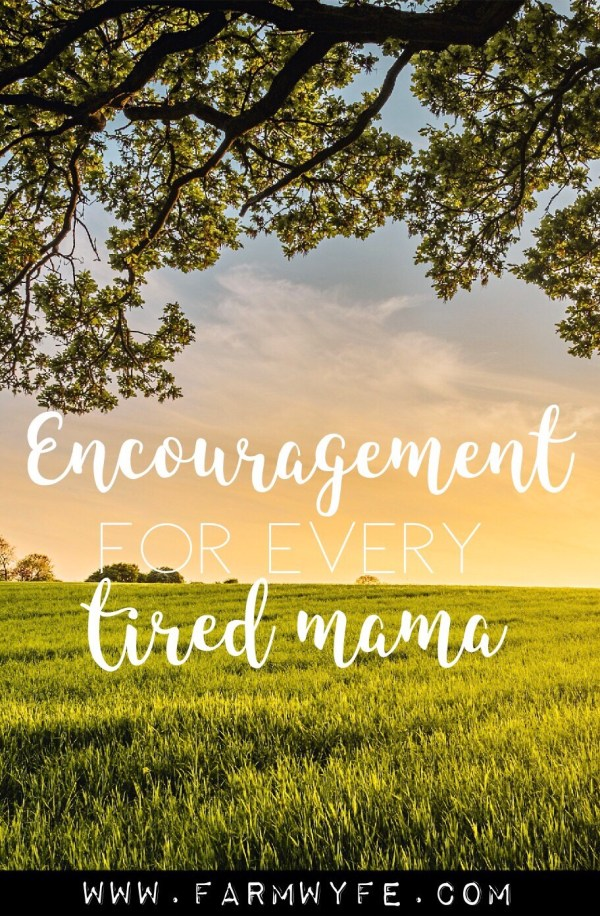 encouragement for every tired mama