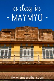 Maymyo in Myanmar is a colonial-era settlement providing the perfect place to see colonial-era architecture in Burma.