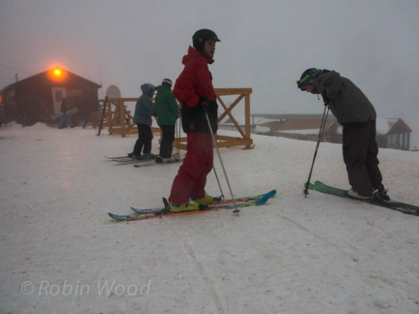 Sitting in a cloud, prepping for the second run of the season.