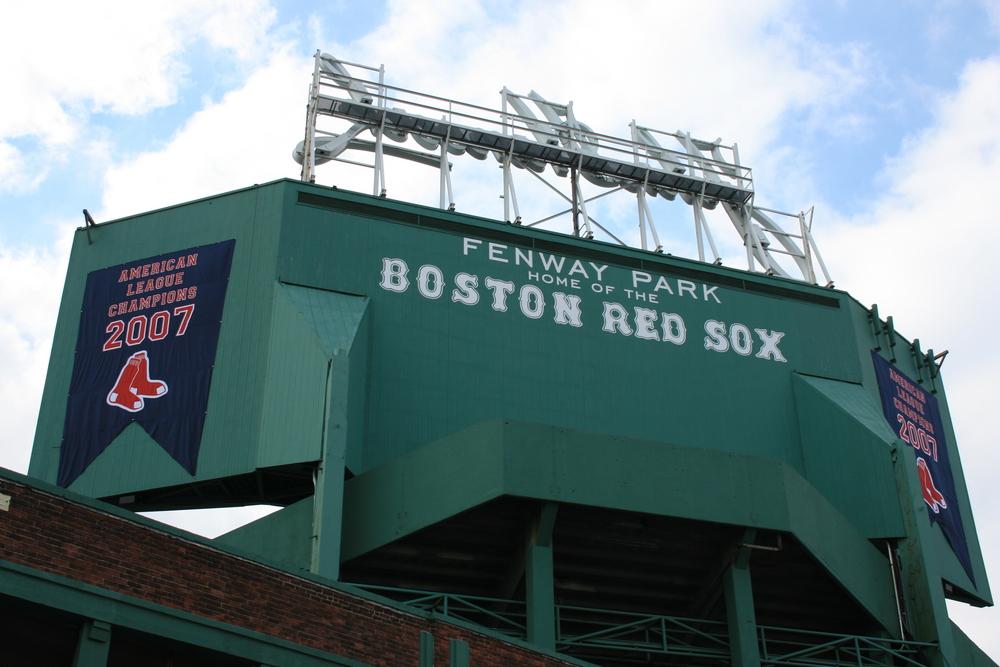 Fenway Park, Boston. Includes 2007 American League Champions banner.