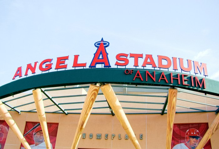 Anaheim,CA/Los Angeles. Oct 29 2016, The main entrance of Angel Stadium, a major league baseball team in Anaheim, CA.