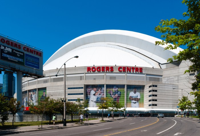 The Rogers Centre on July 30, 2009 in Toronto. The Rogers Centre is a multi-purpose stadium in downtown Toronto famous the world over for its fully retractable roof.