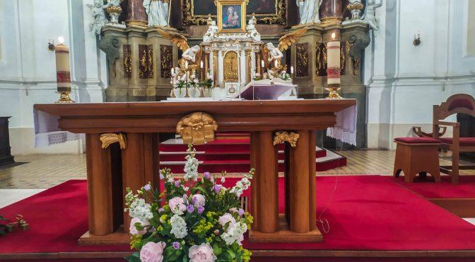 Výzdoba oltáře