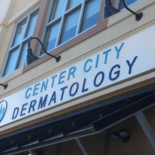 Center City Dermatology Exterior Metal Dimensional Letters