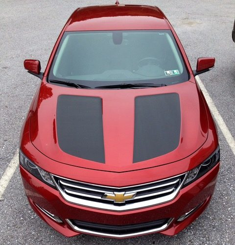 Chevy Malibu Hood Carbon Fiber Wraps Vehicle Graphics