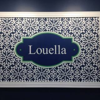Louella Interior Digitally Printed Logo and Custom Design Wall Graphic
