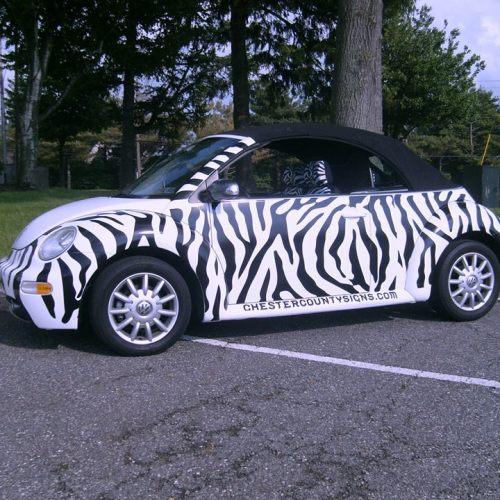 Volkswagon digitally printed full car wrap