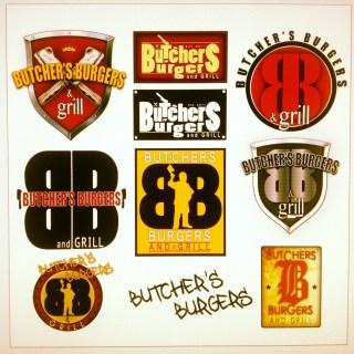 Butcher burger logo design brand creation examples