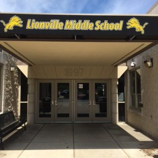 Lionville Middle school custom shed awning