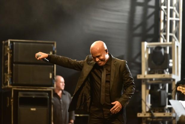 O cantor sertanejo Rick vira mestre de cerimônia do show 300 anos de bênçãos - Foto Thiago Leon