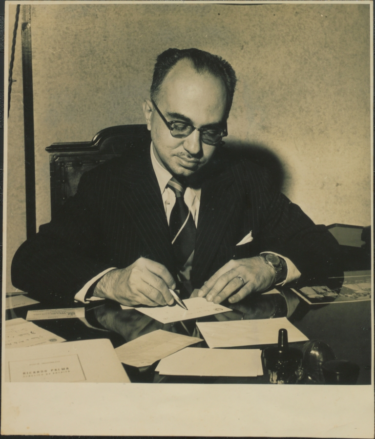 O escritor Josué Montello. Acervo CCJM