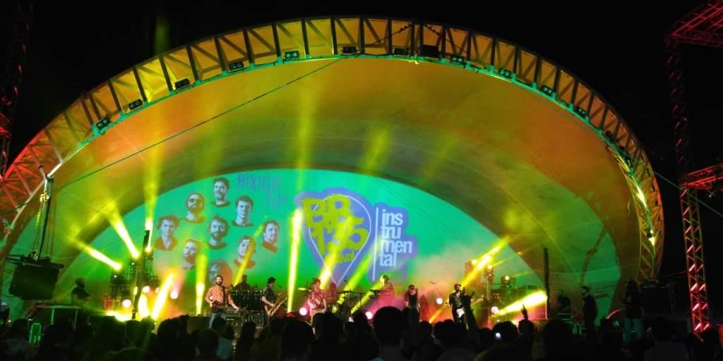 O Bixiga 70 no palco do BR-135 em Imperatriz. Foto: Guta Amabile