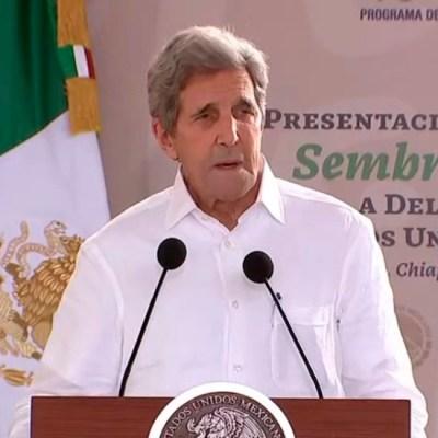 John Kerry, enviado especial de Estados Unidos, defiende energías limpias frente a la Reforma Eléctrica propuesta por el Presidente
