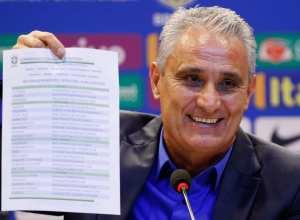 O técnico da seleção brasileira Tite, anuncia os jogadores convocados para disputar a Copa do Mundo da Rússia 2018 (Fernando Frazão/Agência Brasil)