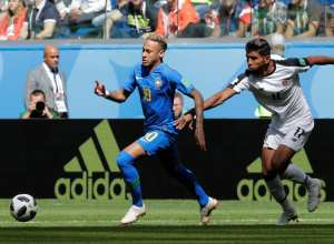 Neymar Jr. no jogo Brasil e Costa Rica (Henry Romero - REUTERS)
