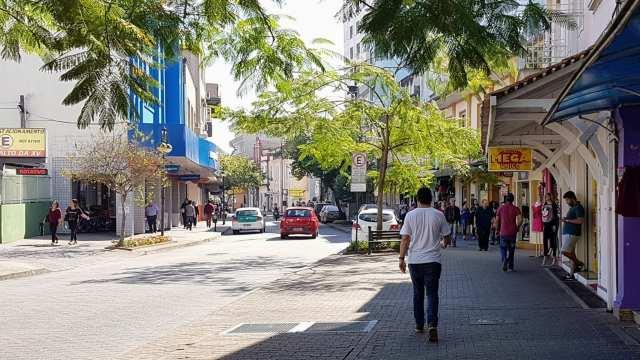 Rua XV de Novembro - foto Tauane Pereira dos Santos/Farol Blumenau