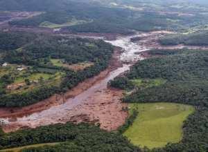 Região atingida pelo rompimento da barragem Mina Córrego do Feijão, em Brumadinho/MG - foto de Isac Nóbrega/PR