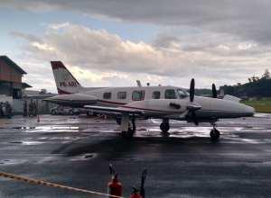 Dinheiro que estava em aeronave foi levado pelos criminosos - foto do CBMSC