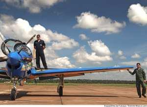 Avião da Esquadrilha da Fumaça - foto do tenente Marcus Lemos