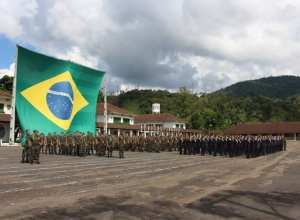 Cerimônia no 23º Batalhão de Infantaria - foto do Exército Brasileiro