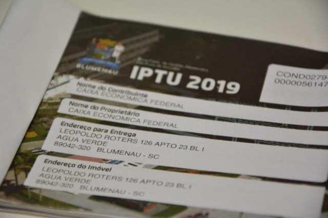 Carnê do IPTU 2019 da Prefeitura de Blumenau
