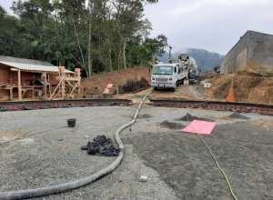 Samae inicia primeira concretagem da base para o novo reservatório na Itoupavazinha - foto do Samae
