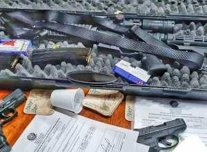 Armas apreendidas ontem na Itoupava Norte - foto da Polícia Militar