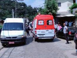 Ambulância que prestou socorro a criança - foto do CBMSC