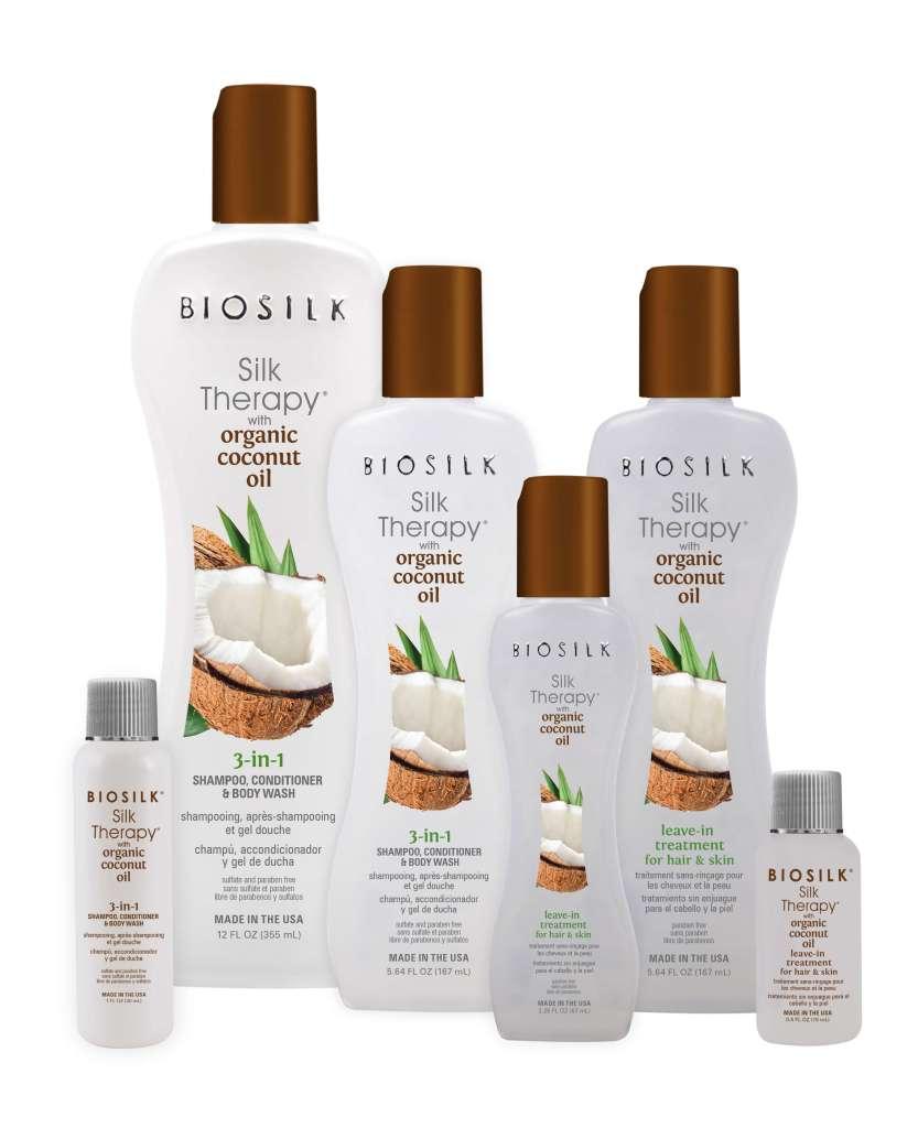 Biosilk Silk Therapy Coconut Oil Group 833x1024 - Biosilk Organic Coconut Oil