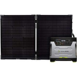 Goal Zero Yeti 1250 with 100W panels