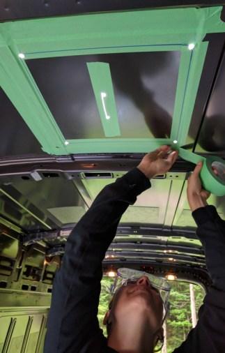 Maxxair Fan Installation,, Drill 4 holes