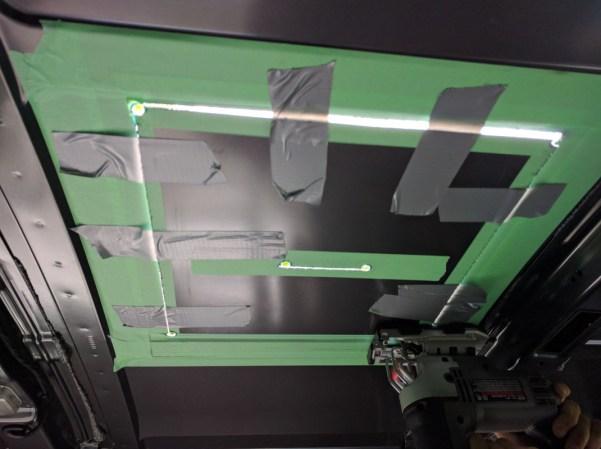 Maxxair Fan Installation, cut each side