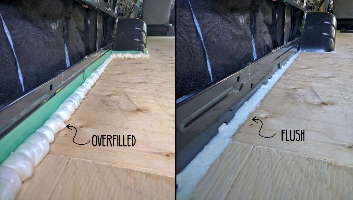 Floor Installation In A Camper Van Conversion Faroutride