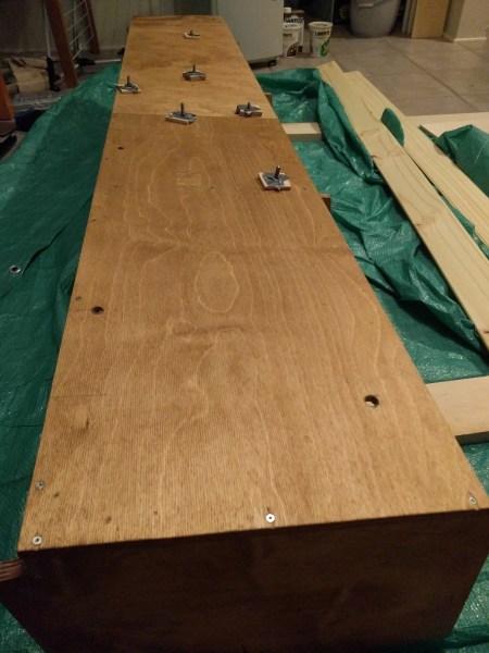 Overhead Storage Cabinet Camper Van Conversion (17)