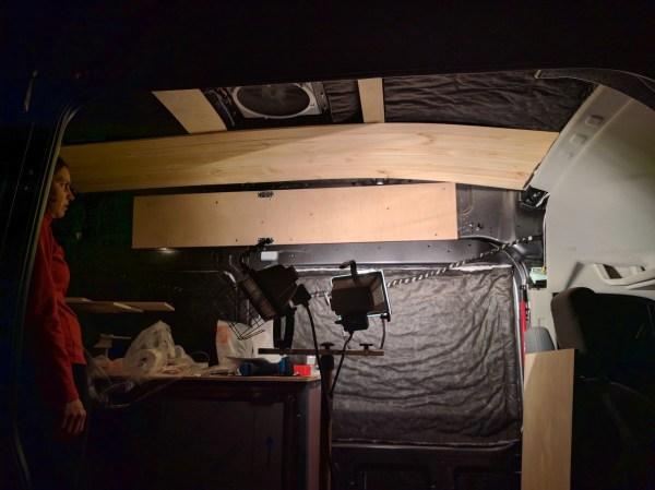 Overhead Storage Cabinet Camper Van Conversion (2)