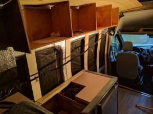 Overhead Storage Cabinet Camper Van Conversion (20)