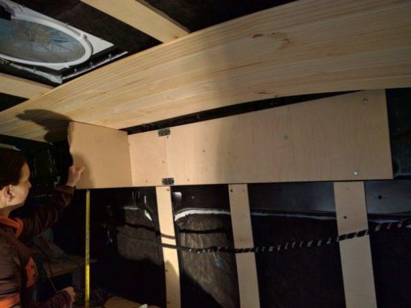 Overhead Storage Cabinet Camper Van Conversion (6)