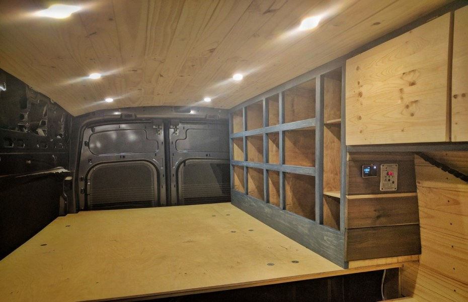 Bed Storage Van Conversion Final