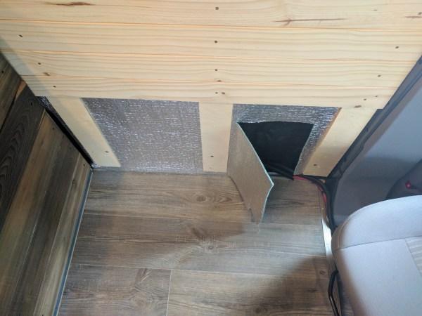 Composting Toilet Installation Camper Van Conversion (40)