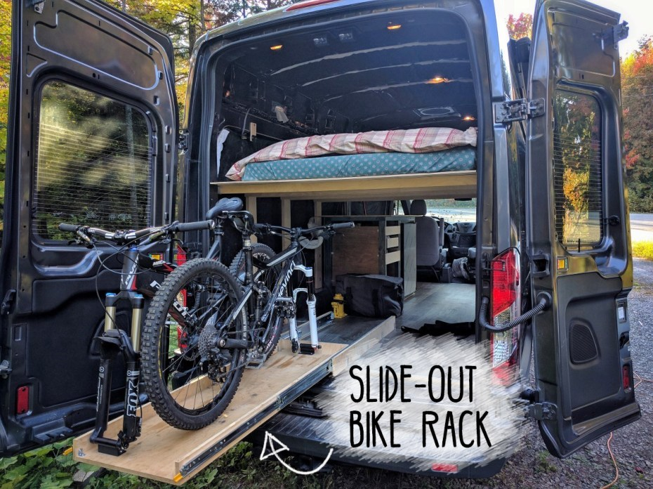Slide-Out Bike Rack Van