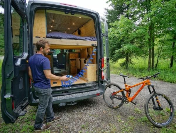 Bike Wash Van Conversion