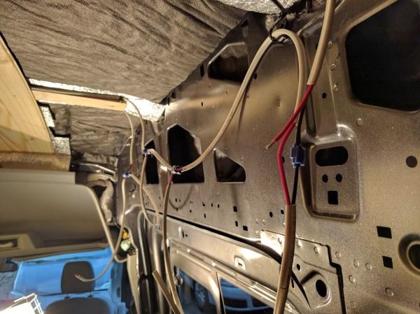 LED wiring van