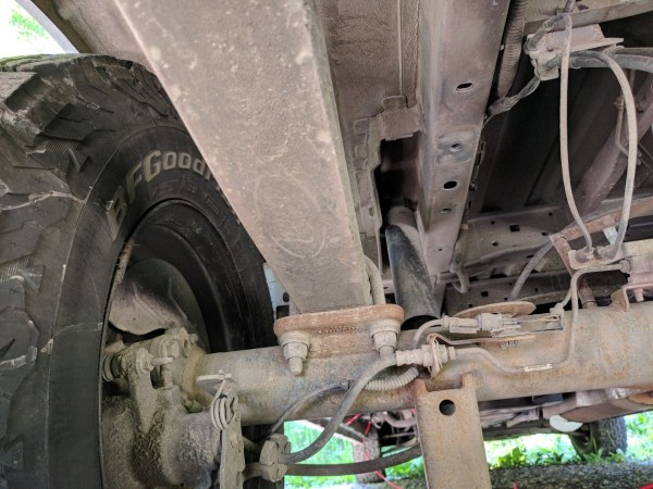 Ford Transit Jounce Bumper Removed